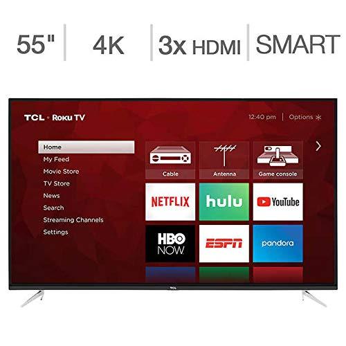 TCL 55S423 55' Class (54.6' Diag) 4K UHD Roku LED LCD