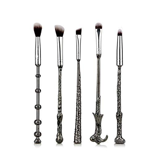 BXGZXYQ Pinceau pour les yeux avec manche en métal 5pcs Pinceau magique pour le maquillage. (Size : 5-piece)