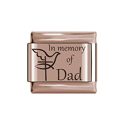 In Memory Of Loved Ones Charm - Fit All Classic 9mm Italian Style Charms - UK stock (Dad)
