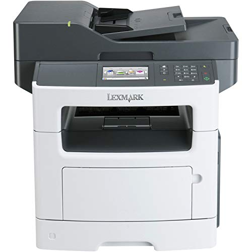 Lexmark MX511de Monochrome All-In One Laser Printer, Scan, Copy, Network Ready, Duplex Printing and Professional Features (Renewed)