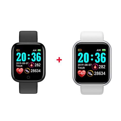 YDL SmartWatch Smart Watch Hombres Mujeres Presión Arterial Tasa del Corazón Bluetooth Fitness Watch Smart Pulsera para Android iOS (Color : Chocolate Color)