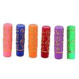 barsku Lápiz labial mágico de 6 piezas, Hidratante de larga duración Barras de labios de color con cambio de temperatura Tubo de mariposa Lápiz labial multicolor Para mujeres y niñas