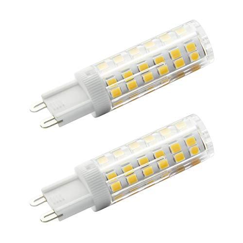 7117 LED-Leuchtmittel, G9, nicht dimmbar, hohe Helligkeit, 5 W, entspricht 50 W Halogenlampe, 220–240 V, Warmweiß, 3000 K, 2 Stück