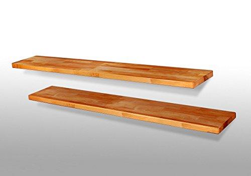moebelstore24 1 x Wandboard Dani2 Regal Steckboard Kernbuche Massivholz geölt/Länge 120 cm