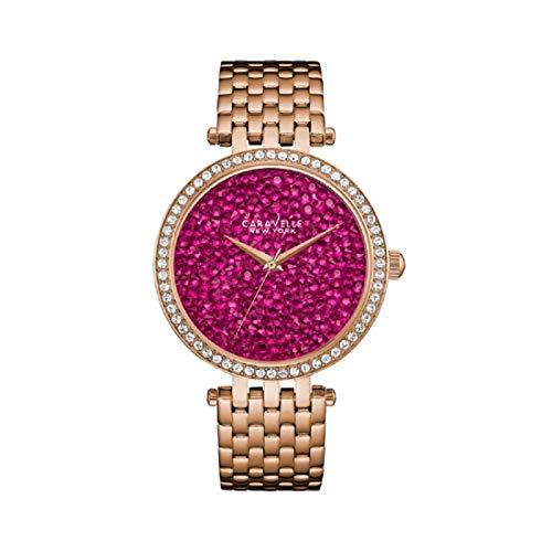 Caravelle New York Women's 44L221 Swarovski Crystal Rose Gold Tone Watch