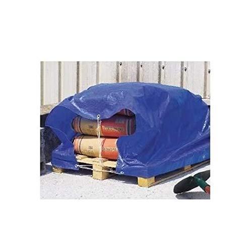 Intermas Voile d'ombrage 80 g. avec œillets 3 x 5 Bleu