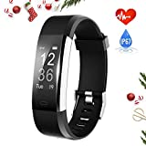 Fitness Tracker, Activity Tracker with Heart Rate Monitor and Sleep Monitor, Step Counter Pedometer Watch, IP67 Water Resistant Smart Band with 0.96''OLED Touchscreen for Kids Women and Men