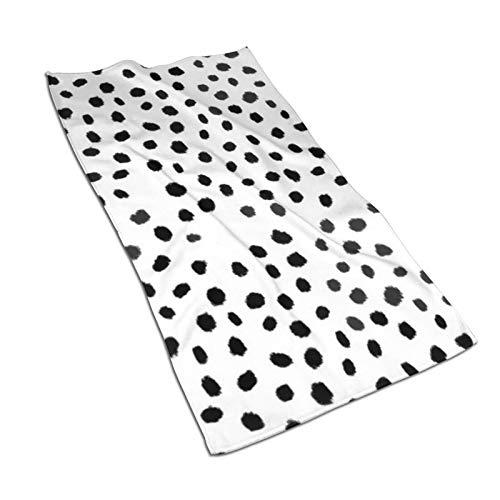 Juego de cojines de color blanco y negro suave, súper absorbente, toalla de mano de secado rápido, toalla de baño/toalla de playa – 27.5 x 17.5 pulgadas