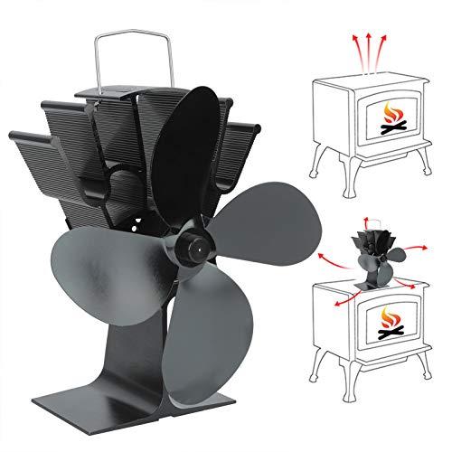 Ventilatore per stufa a 4 pale, ventilatore per stufa, accessori per stufe a legna Accessori per caminetti per camini Circolazione del calore domestico