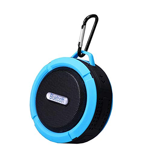 Best Outdoor Waterproof Bluetooth Speaker, Portable Wireless Small Rechargeable Suitable for Shower Travel car, Biking, Room,Home tv with Suction Cup Clip-on Enhanced bass Loud Stereo with Card Slot
