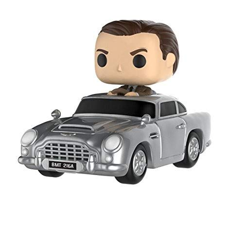Funko 24820 W1 POP Rides: James Bond: Aston Martin & Sean Connery, Multi