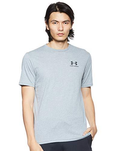 Under Armour Sportstyle Left Chest Camiseta de Manga Corta, Hombre, Gris (Steel Light Heather-036), L