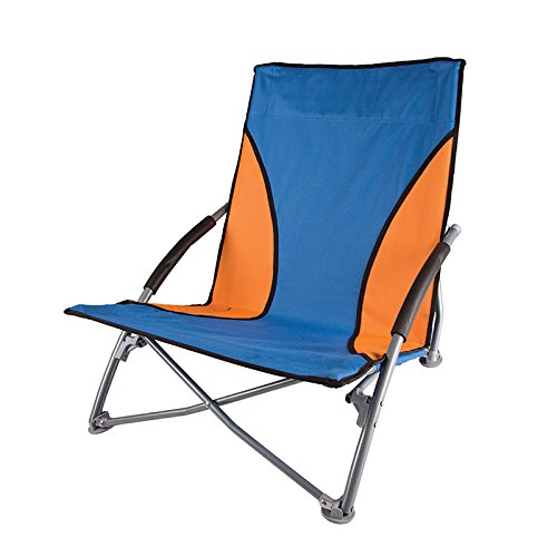 StanSport Unisexs BlueOrange Low Profile Sand Chair One Size