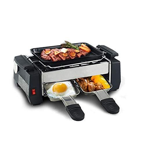 fang zhou Elektrischer rauchfreier Grill und Grillpfanne, Digitale Temperaturregelung Antihaft-Pfannen Material Teppanyaki Grills, für Innengrill in Ihrer Küche