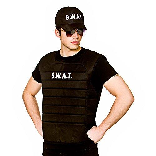 Adulte Unisexe SWAT Vest et Costume de déguisement uniforme Cap ...