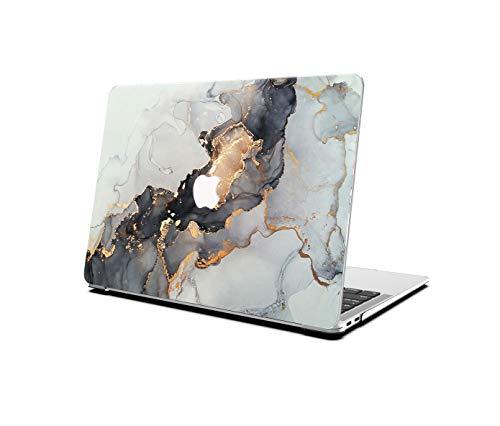 AOGGY – Carcasa rígida para MacBook Air de 13 pulgadas, modelo A1369/A1466 – Color negro dorado