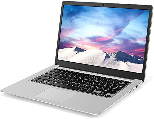 Laptop de 13,3 Pulgadas (Intel Celeron J3455 de 64 bits, 6GB DDR3 RAM, SSD de 128GB, batería de 10000mAH, cámara Web HD, Windows 10, Pantalla 1366 * 768 FHD IPS)