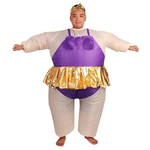 Gazechimp Drôle Gonflable Grosse Ballerine Costume Déguisement pour Cosplay Fête Soirée