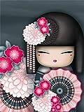 Taladro redondo completo 5D DIY diamante pintura'dibujos animados kimono chica' 3D bordado punto de cruz 5D decoración del hogar regalo A12 40x50cm