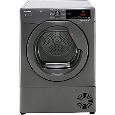 Hoover DXC8TRGR Freestanding B Rated Condenser Tumble Dryer - Graphite