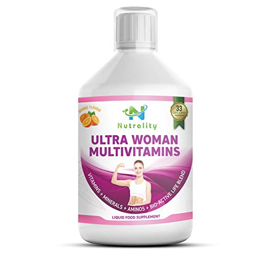 Nutrality Ultra Multivitamin for Women, 500 mL Liquid Supplement, Daily Amino Acid Blend with Bio-Active Vitamins and Minerals, Support Healthy Metabolism, 33 Day's Supply
