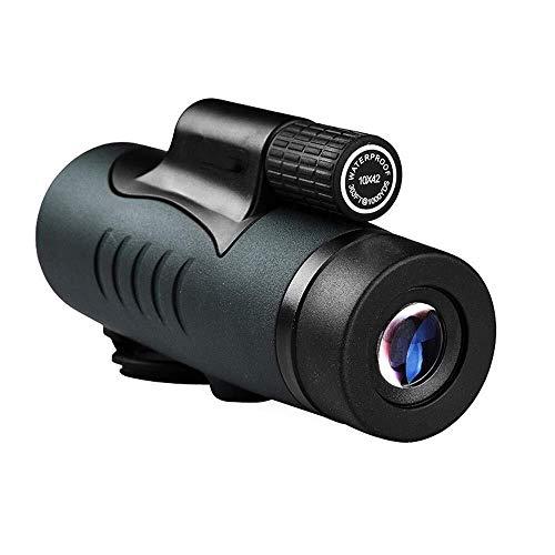 Busirsiz Telescopio monocular 10X42 Solo Canal de Concierto de Alta definición cámara de visión Nocturna monocular teléfono Celular al Aire Libre Espejo