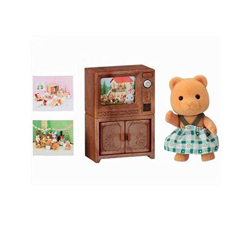 Sylvanian Families 5143 Bärenschwester mit Fernseher, Mehrfarbig
