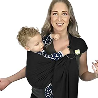 Baby Wrap Ring Sling Ergo Carrier - All-in-1 Stretchy Baby Wraps with Detachable Rings- Baby Sling - Infant Carrier - Babys Wrap - Hands Free Babies Carrier Wraps - Baby Shower Gift