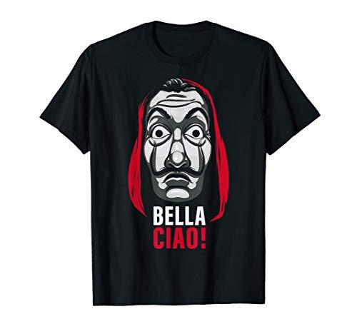 Netflix La Casa De Papel Bella Ciao Mask T-Shirt