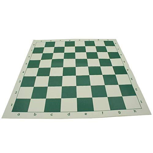 IDOPUZ Tablero de ajedrez, 51cm Original 100% Silicona Enrollable Torneo estándar Verde