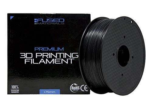 Fused Materials Black ASA 3D Printer Filament