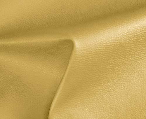 HAPPERS 0,50 Metros de Polipiel para tapizar, Manualidades, Cojines o forrar Objetos. Venta de Polipiel por Metros. Diseño Solar Color Oro Ancho 140cm