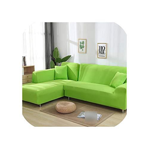 Cloudy Clouds Funda de sofá elástica en Forma de L para Sala de Estar, Chaise Longue, Funda de sofá seccional, Funda de sofá esquinera en Forma de L, elástica, 2 Unidades