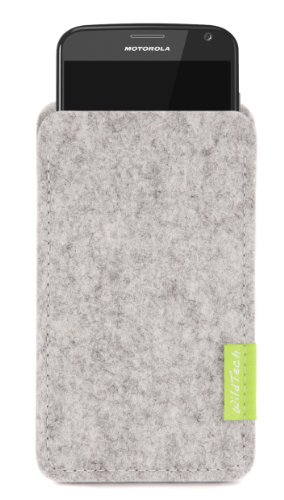 WildTech Sleeve für Motorola Moto G 2012 (1.Gen) Filz Hülle Tasche Case Cover - 17 Farben (made in Germany) - Hellgrau