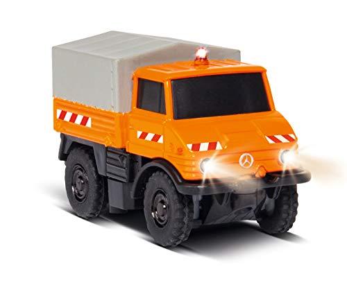 Carson 1:87 MB Unimog U400 Kommunal 100% RTR, ferngesteuertes Fahrzeug, fahrfertiges Modell, mit LED Beleuchtung und schaltbarer Warnleuchte, sehr Kleiner Wendekreis, perfekt für Dioramen, 500504125