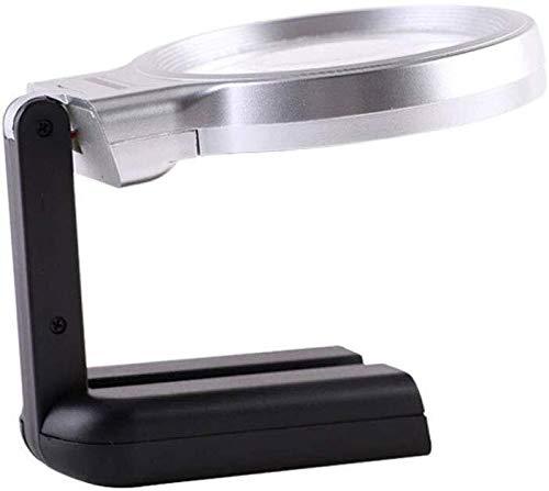 Dongyd HD lupa plegable de mano Escritorio Lámpara lupa con 3 viejos tiempos lectura Periódico joyas de jade marca de identificación del reloj del teléfono móvil de reparación lámpara de mesa circuito