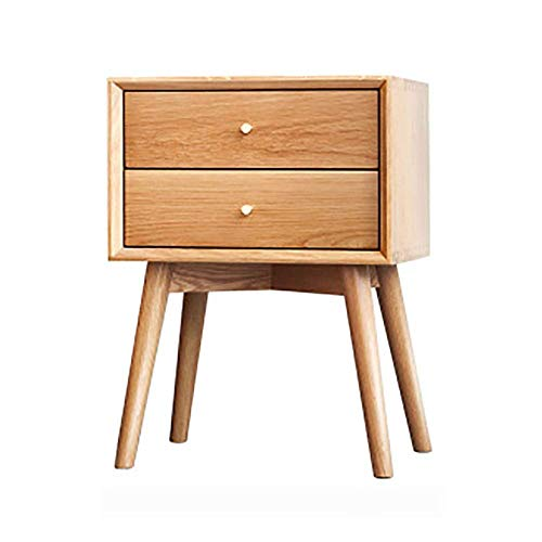 Tägliche Ausrüstung Nachttisch Rechteck Mitte des Jahrhunderts moderner Nachttisch mit Stauraum 2 Schubladen für das Wohnzimmer und das Schlafzimmer (Farbe: Walnuss Größe: 45x35x60cm)