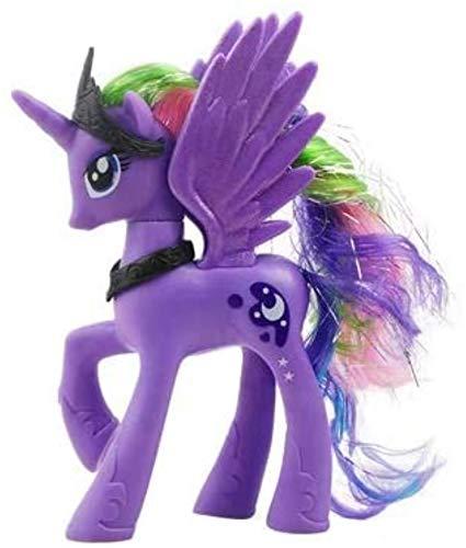 DINEGG Einhorn Makeup Prinzessin Pferd PVC Action Spielzeug Figuren Kinder Spielzeug 14 cm hoch (Farbe: Prinzessin Cadance) YMMSTORY (Color : Princess Luna)
