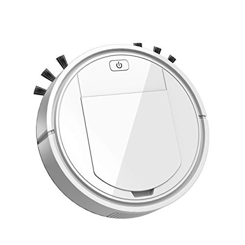 LXRZLS 3 In1 Aspirador Robot automático inalámbrico Barrido de Carga USB Inteligente Cleaner Lazy Robots Vacío de la máquina de Hogares (Color : White)