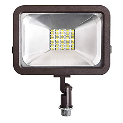 ASD LED Floodlight 20W/30W/50W with Knuckle Mount Super Slim Compact SMD Outdoor Landscape Security Waterproof 3000K (Warm Light)/4000K (Bright Light)/5000K (Daylight) UL Listed DLC Certified