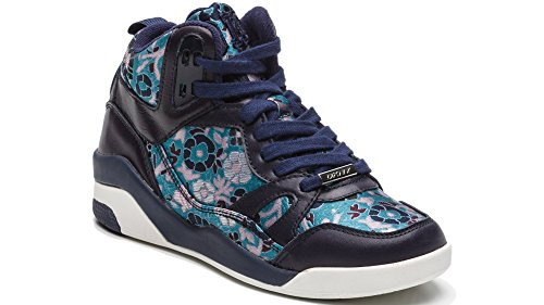 DKNY , Damen Sneaker, Blau - Blue-Multi 418 - Größe: 37.5