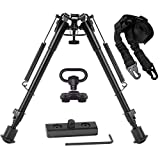 Gogoku Bipod & Sling Combo with Adapter Mount for M-Rail Hunting 9 to 13 Inches Bipod