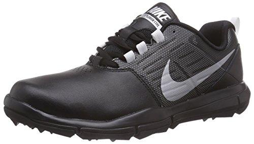 Nike Herren Explorer Lea Golfschuhe, Schwarz (Black/Metallic Silver/Cool Grey 001), 46 EU