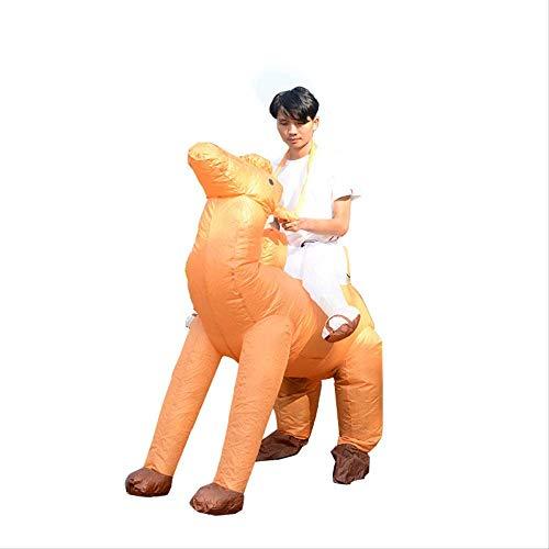 1yess Pantalones Caminar Animales de Halloween Divertido Traje de la Historieta de Adulto Soporte mueca mueca Inflable Camel Ropa
