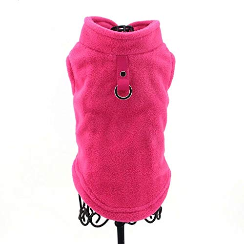 PAWSFECT Dog Fleece Vest Soft Winter Warm Dog Clothes Puppy Pullover Harness with Leash Ring for Yorkie Small Medium Dogs Cats Doggy Sweater for Dachshund Chihuahua French Bulldog Pug