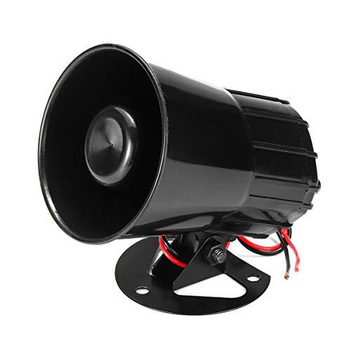 JINXL Bocina de alarma de 12V Bocina de alarma doméstica Bocina de alarma de coche de sonido potente Accesorios para herramientas automotrices
