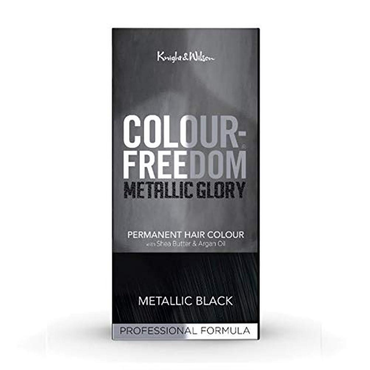 恒久的オリエンテーションケーブル[Colour Freedom ] カラー自由メタリック栄光の金属黒117 - Colour Freedom Metallic Glory Metallic Black 117 [並行輸入品]