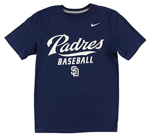 Nike Men's San Diego Padres MLB Home Practice T Shirt Navy Blue S