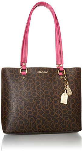 Calvin Klein Mercy Signature Organizational North/South Tote, PUNCH