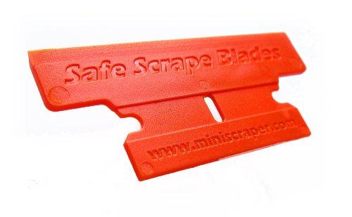 MINISCRAPER Plastic Razor Blades,T-2 Blade 50% Wider 10 Pack